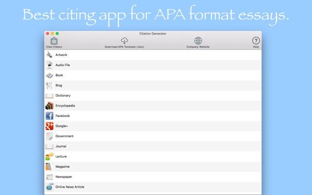 Citation Generator on the Mac App Store