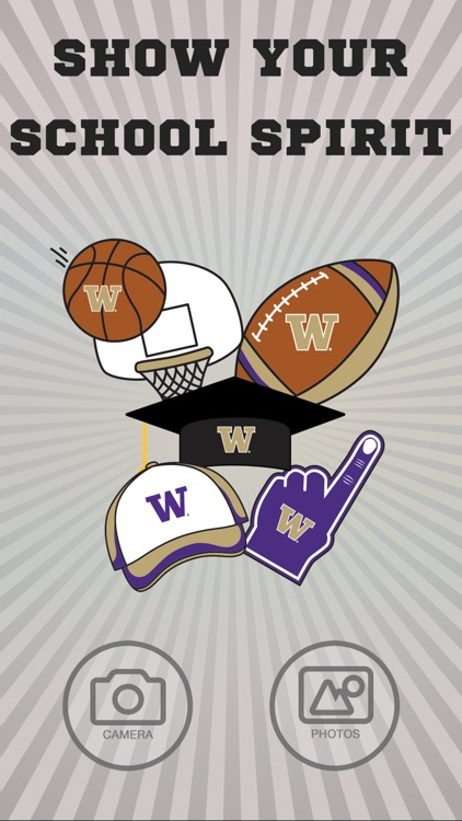 Washington Huskies PLUS Selfie Stickers