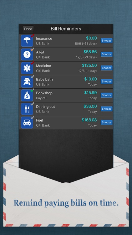 Bills Monitor - Bill Reminder screenshot-4