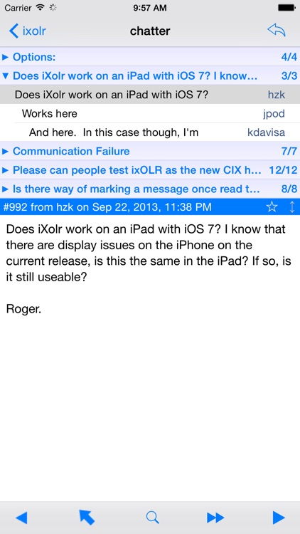 iXolr - CIX Offline Reader
