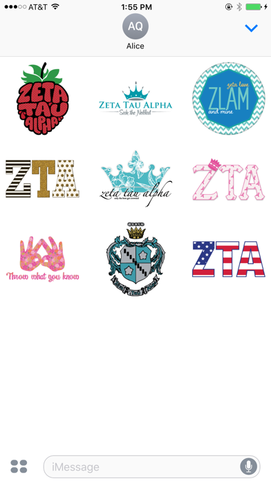 GreekMoji - Zeta Tau Alpha Sticker Pack screenshot two