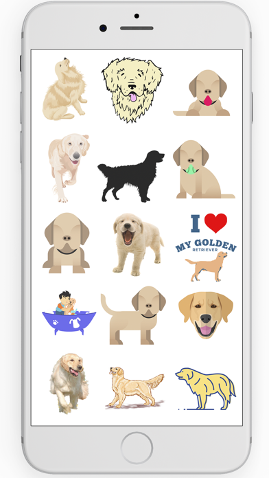 Golden Retriever Stickers screenshot three