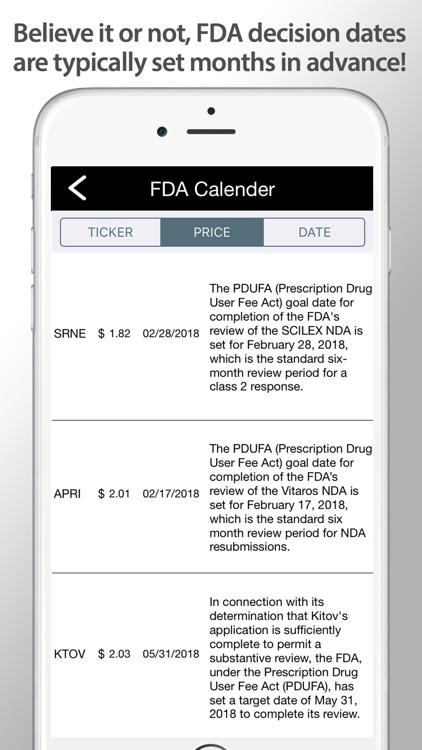 Biotech Stocks FDA Calendar