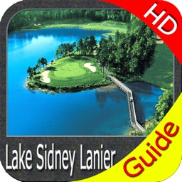 Lake Lanier GA HD gps charts fishing maps offline