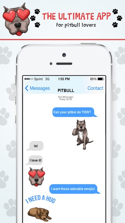 PitbullMoji - Pit Bull Emojis screenshot-2