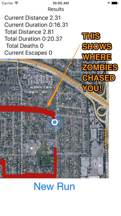 Zombie coach - running aid screenshot two
