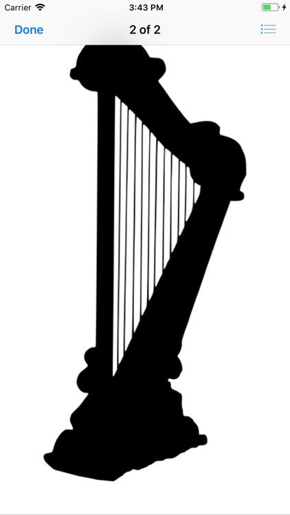 Heavenly Harp Stickers