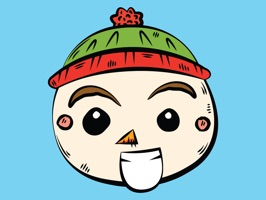 Express yourself with Little Snowman stickers this holiday season