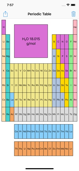 Periodic Table With Molar Mass On The App Store