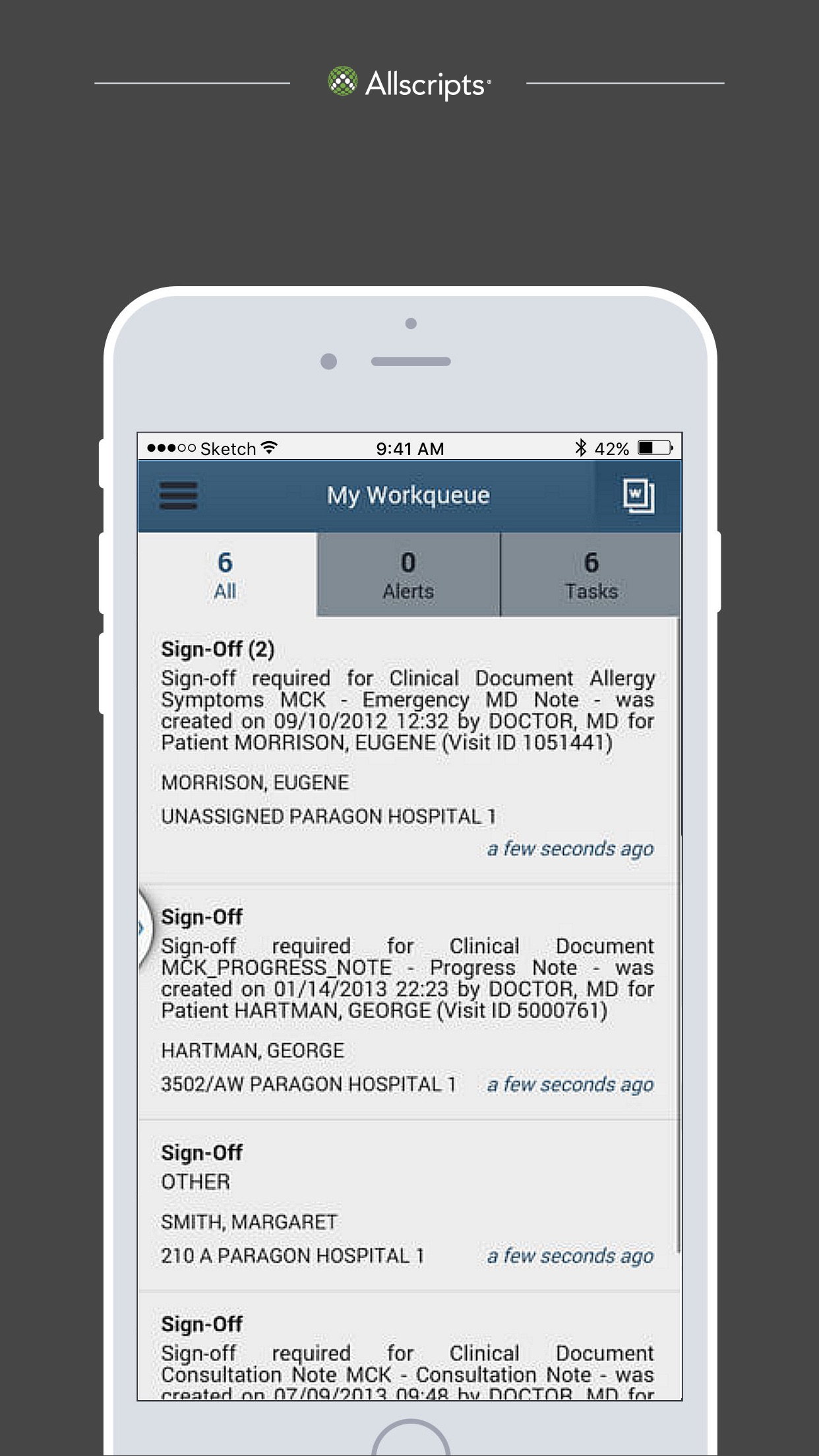 Paragon Mobile – Smartphone Screenshot