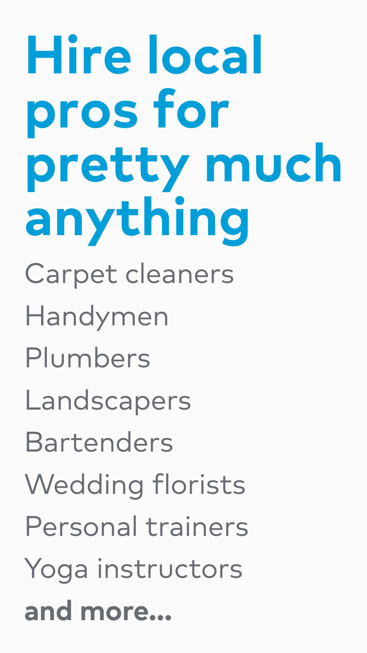 Thumbtack: Hire local services Screenshot