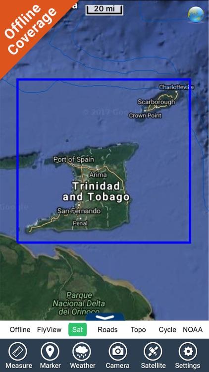 Trinidad & Tobago - GPS Map Navigator screenshot-4