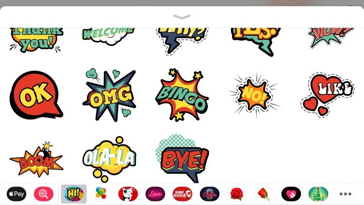Comic Boom Pop Art Sticker App screenshot-3
