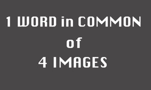 1 word in common of 4 images