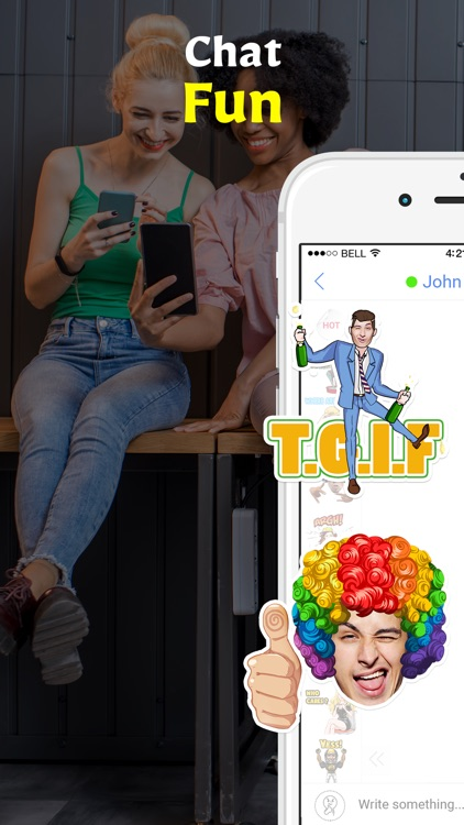 Stixchat - Selfie messenger with face stickers
