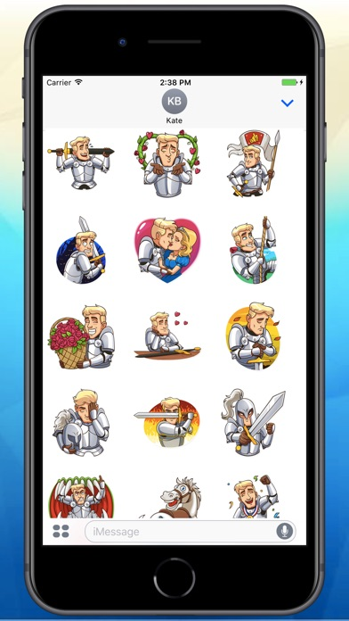 Screenshot for Romantic Knight Stickers in Colombia App Store