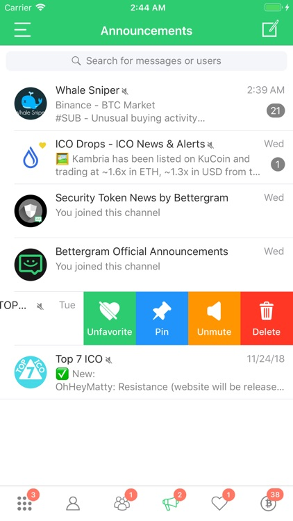 Bettergram - Crypto Chat App