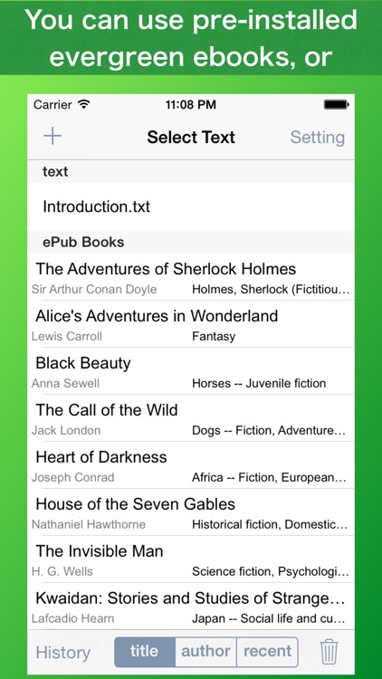 Speed Reading Touch screenshot-3
