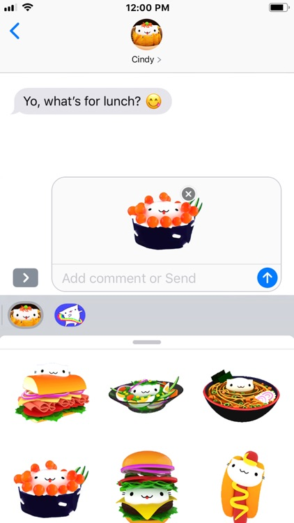 Cindy's Animated Food Stickers screenshot-3