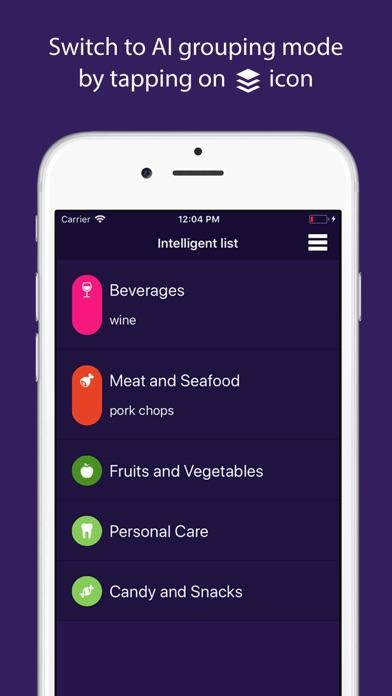 IntelliShopping - Grocery List screenshot 2