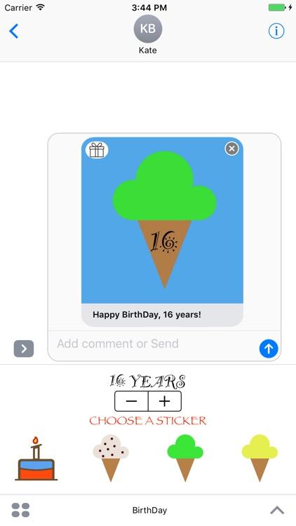 BirthDay - Stickers screenshot-4