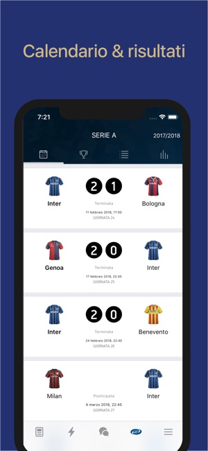 Interit Calendario.Inter Live Notizie E Goal On The App Store