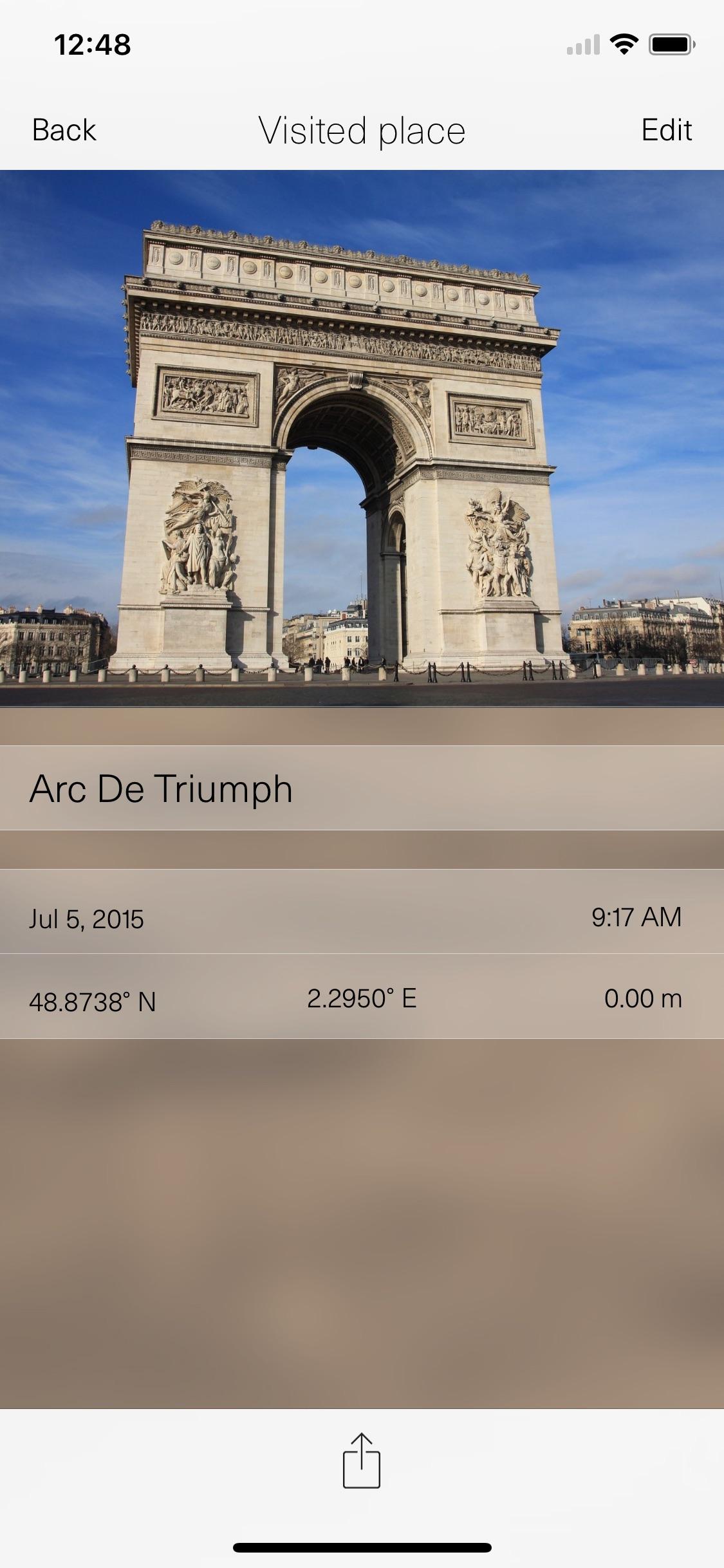 Screenshot do app TripRider