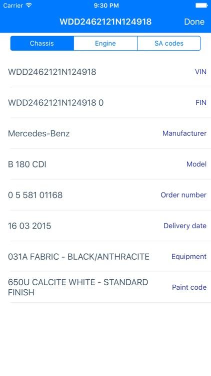 Great VIN Decoder For Mercedes Benz