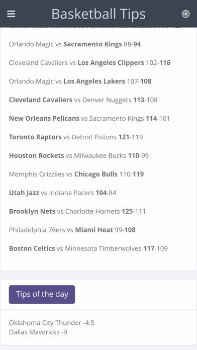 Screenshot of Basketball Tips App