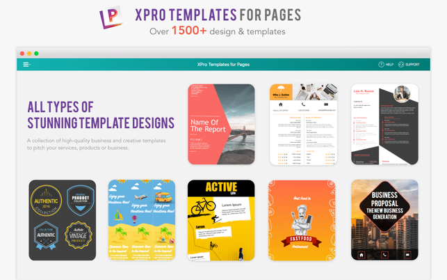Xpro templates for pages on the mac app store screenshots friedricerecipe Images