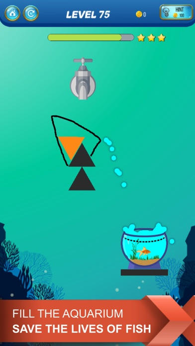 Screenshot for Save The Fish - Physics Puzzle in Israel App Store