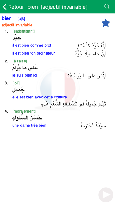 Screenshot for Dictionnaire d'arabe Larousse in Jordan App Store