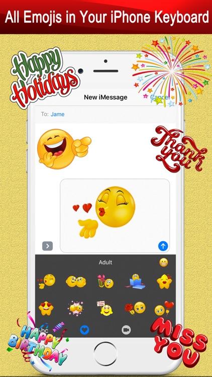 Emoji Keyboard Gif for Bitmoji screenshot-3