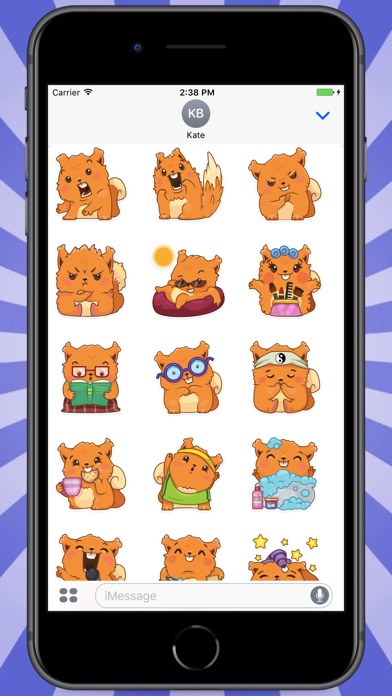 Screenshot for Cute Ginger Squirrel Stickers in Colombia App Store