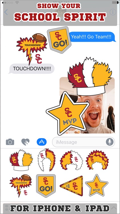 USC Trojans Stickers for iMessage