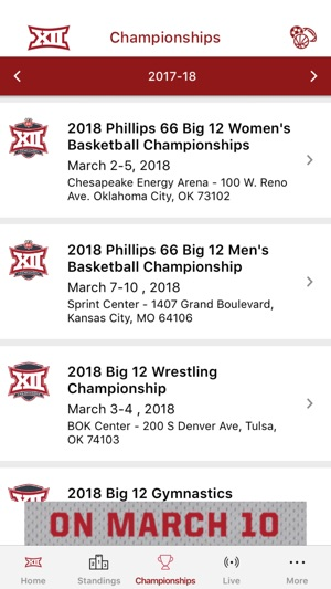 The Big 12 On The App Store
