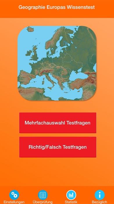 Geographie Europas Quiz screenshot 1