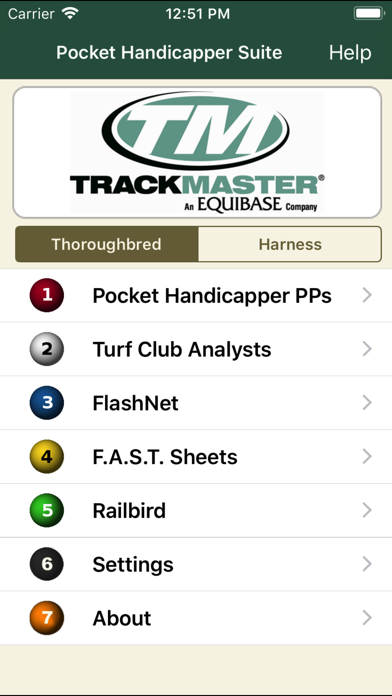 Pocket Handicapper Suite Screenshot