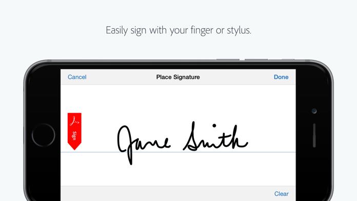 Adobe Fill & Sign Screenshot