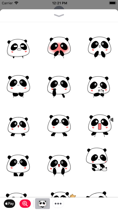 Panda Bear Animated Stickers screenshot one