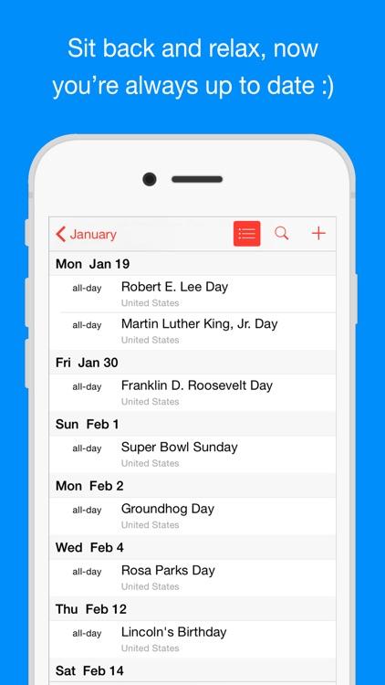Bank Holiday Calendars screenshot-3