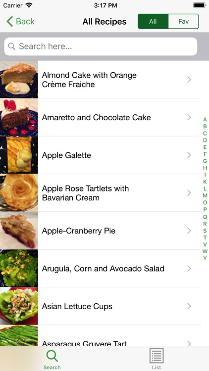 Planet Recipe for iPhone