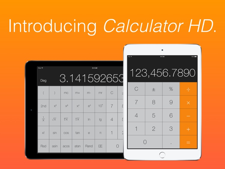 Calculator HD (for iPad) screenshot-4