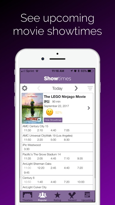 Showtimes - Movie Tickets iPhone