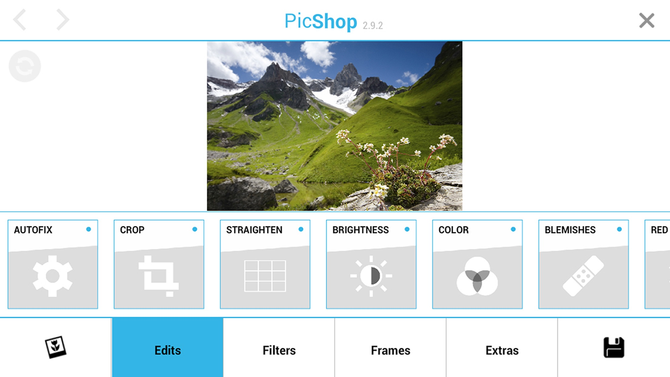 Screenshot do app PicShop HD - Photo Editor