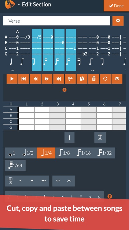 Ukulele Notepad - Tab Editor screenshot-6