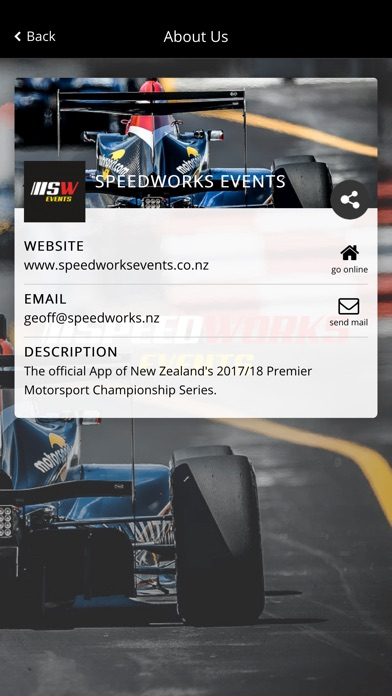 Image of Speedworks Events for iPhone
