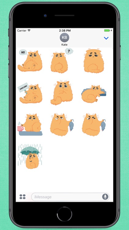 Red Fat Cat Stickers