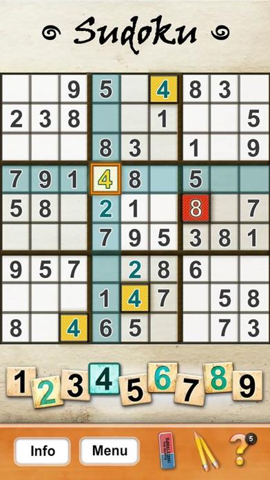Screenshot of Sudoku puzzles1