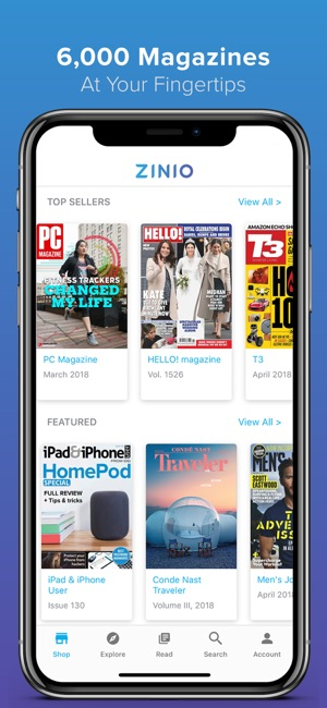 how to save videos from iphone zinio magazine newsstand on the app 7264